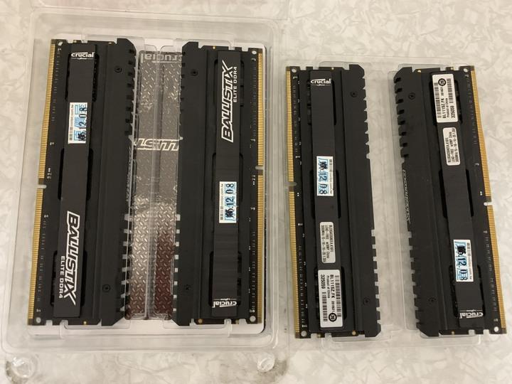 Micron 美光 Ballistix Elite 菁英版 DDR4-3000 8x4 32g四通道