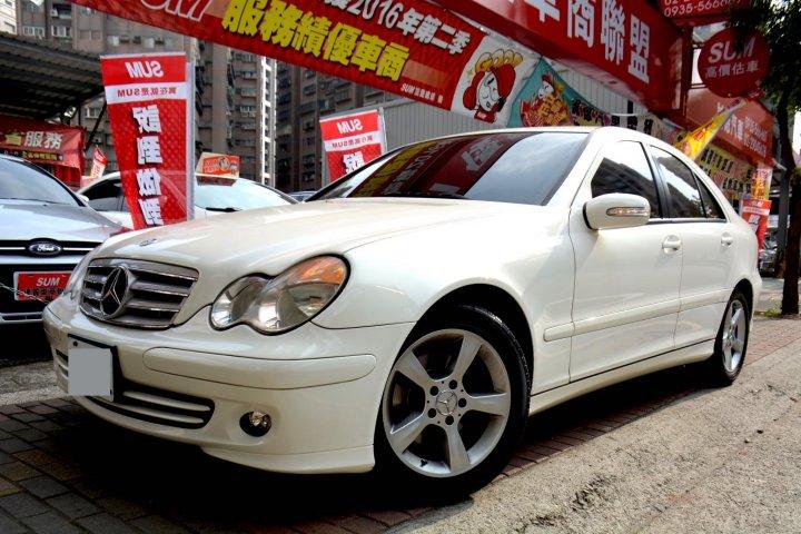 2006年 C200k 1.8cc 白色 跑10萬