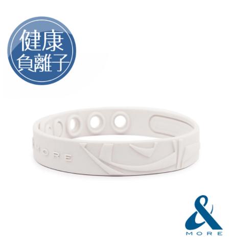 &MORE愛迪莫 KADORI高濃度負離子運動手環(白色)