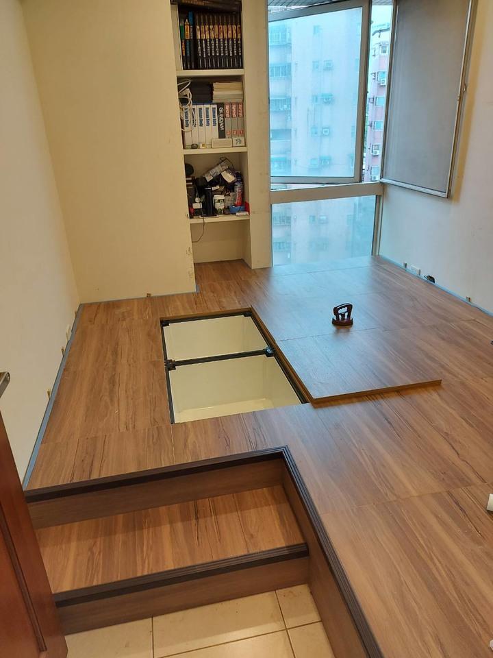 DIY架高收納木地板