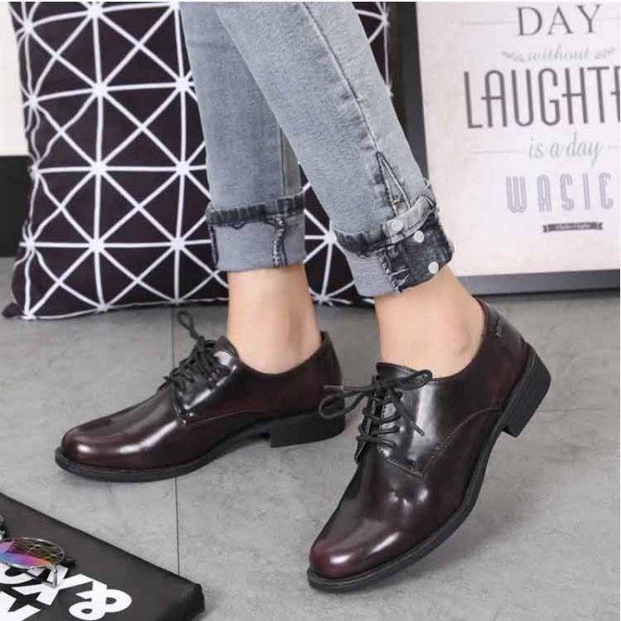 一元起標 全新西班牙mtng shoes 女/大童 英倫復古咖啡色牛津鞋 US7號 38/24CM