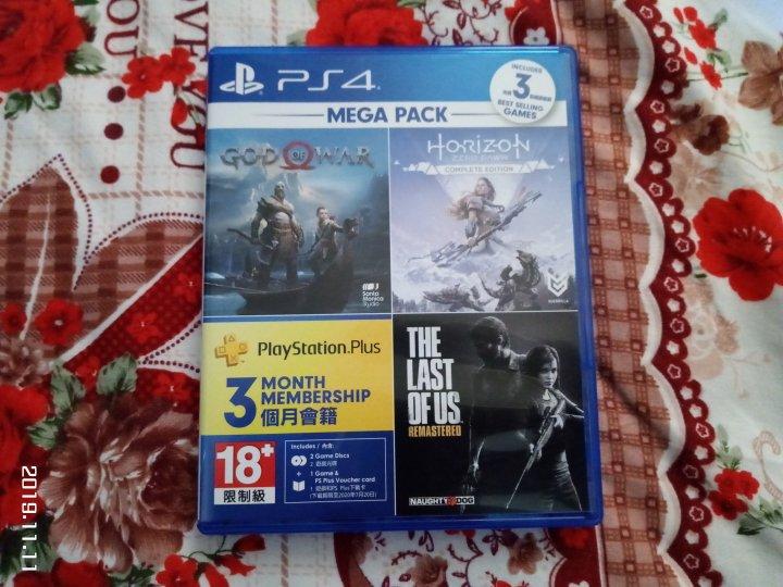 PS4 戰神+地平線期待黎明完全版+最后生還者