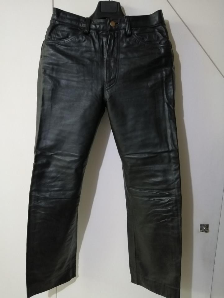 日本 牛皮騎士皮褲
