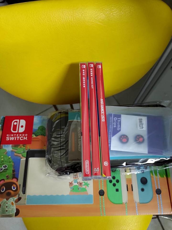 5/22【不議價】Switch主機 動森特別版$15230起 台灣公司貨 + 3片遊戲 + 周邊完整配件