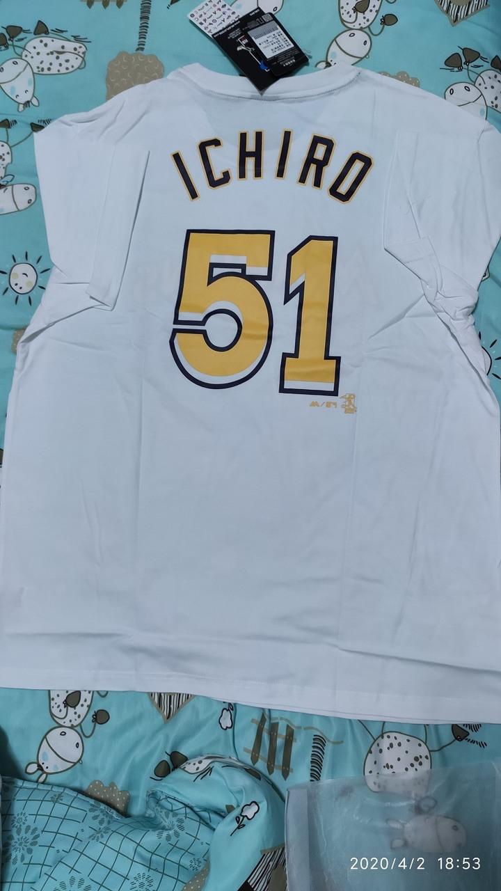 全新 MLB ICHIRO 鈴木一朗T恤 白色 XL號