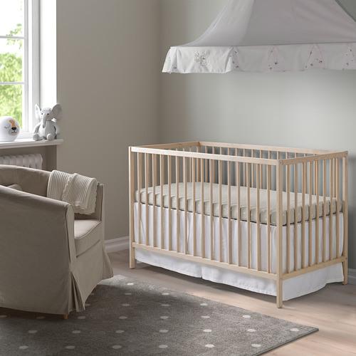 IKEA 嬰兒床(櫸木) SNIGLAR(不含床墊)