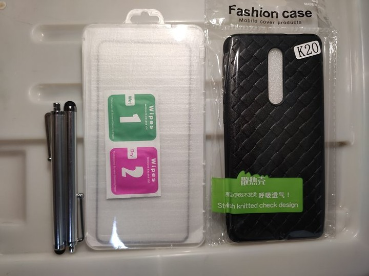 小米 9T/9Tpro透氣編織紋手機殼 + 玻璃貼