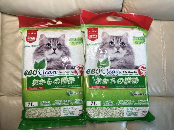 【ECO艾可】豆腐貓砂7L-2入 綠茶
