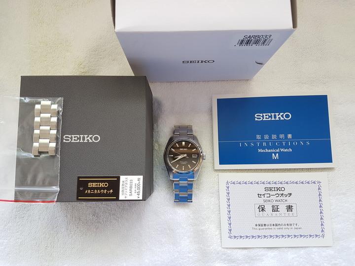 SEIKO 精工錶 6R15 SARB033 機械錶 黑色 日本製 GS 參考
