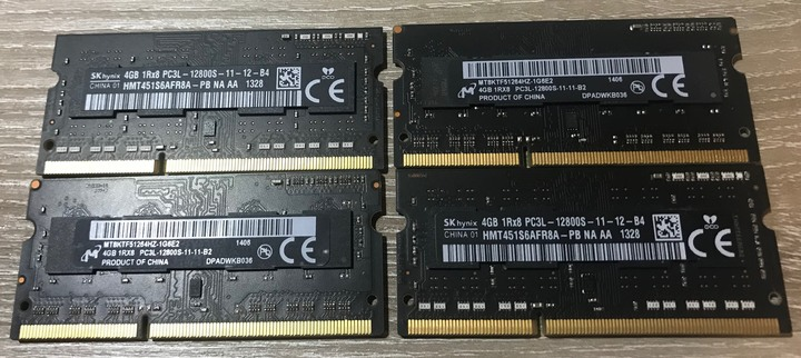 iMAC筆電 低電壓版 DDR3-1600 / PC3L-12800S 4G x4支便宜賣