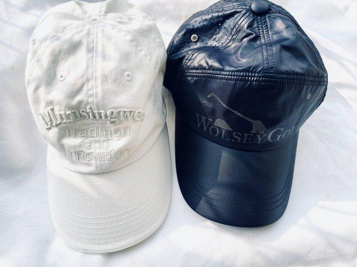 2頂$2000 高爾夫棒球帽 Munsingwear企鵝牌、wolsey英國皇室品牌 男女適戴