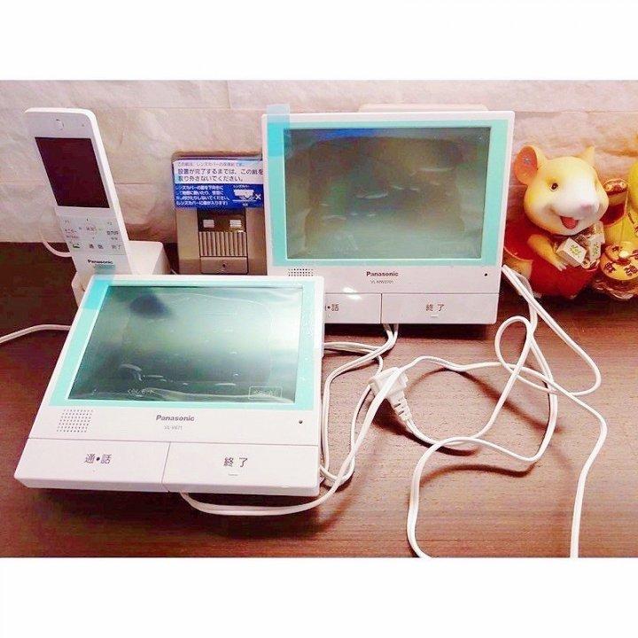 原價3萬多!全新公司貨日本原裝進口Panasonic居家保全七吋touch屏幕影像視頻門鈴組廣角鏡頭無線手持通話