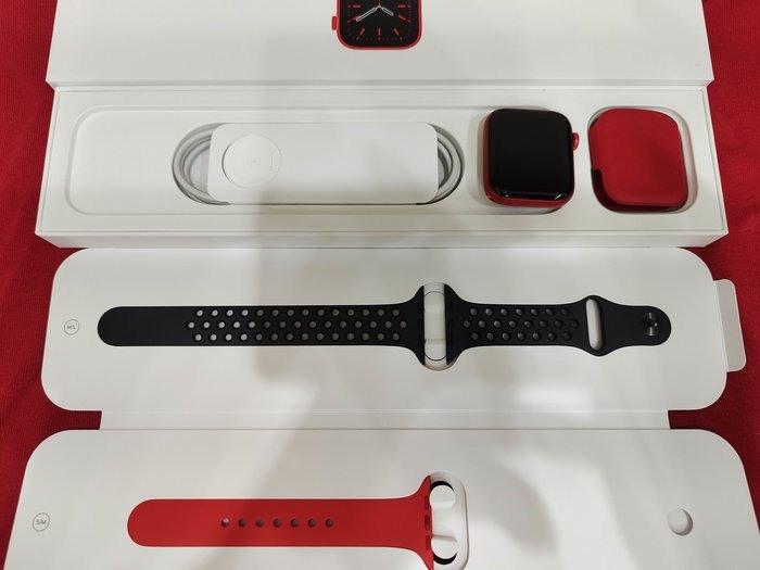 ※聯翔通訊 外觀如新機 台灣原廠保固2021/9/24 Apple Watch S6 44mm GPS 鋁金屬※換機優先