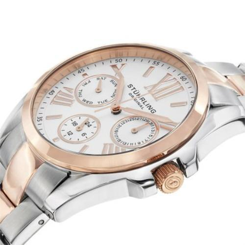 Stuhrling Original Women's石英玫瑰金鋼帶 - 時尚腕錶