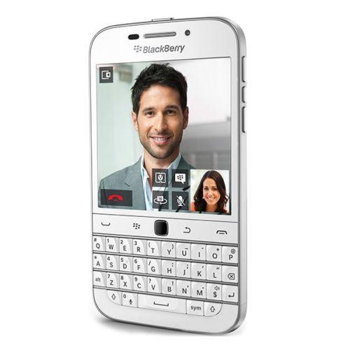 BlackBerry Classic Q20 - SQC100-1 ,白色,注音鍵盤 + 原廠皮套