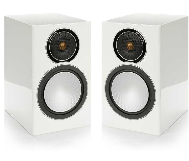 Monitor Audio Silver 1 書架式喇叭 - 鋼琴烤漆白 - 展示品