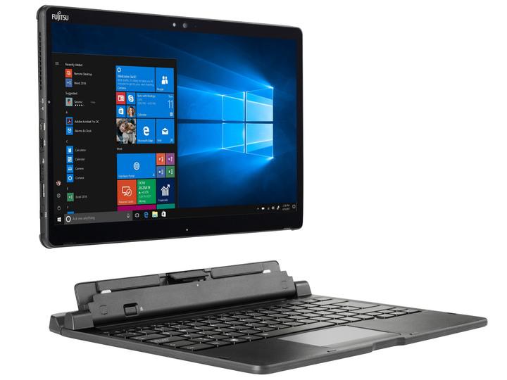 Fujitsu Stylistic Q738、13吋,i5、8GB RAM、512GB SSD、視訊、指紋、手寫筆+鍵盤+擴展座+保護殼+背帶+立架