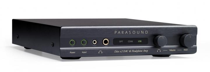 Parasound Zdac v.2 USB、光纖、同軸輸入,XLR、RCA輸出,DAC / 耳擴、前級擴大機 - 黑色