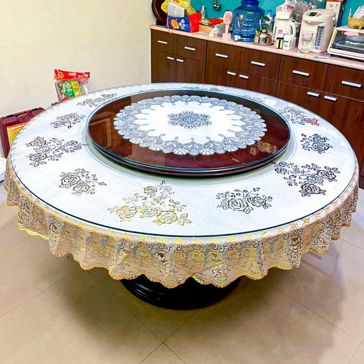 【低售】質感原實木1.5米10人圓形桌 餐桌 附玻璃轉盤 低售但需自取