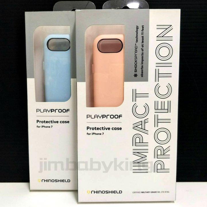 現貨犀牛盾 iPhone7 / iPhone8 4.7吋 PlayProof 粉末藍 裸粉 防摔背蓋殼 手機 高雄可面交