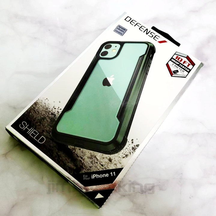 全新 X-doria Defense Shield 刀鋒極盾金屬 手機防摔保護殼 夜幕綠 iPhone 11 6.1吋