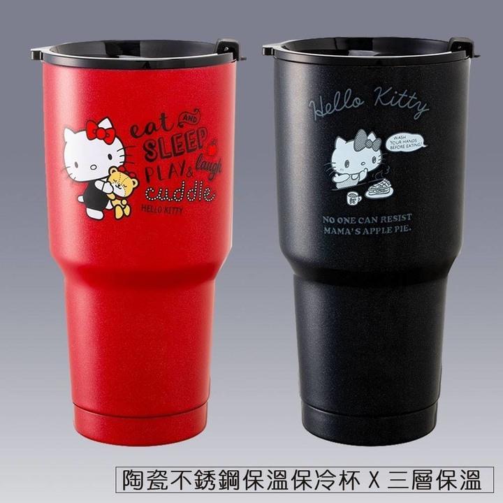 全新 三麗鷗正版 經典Hello Kitty陶瓷保溫杯 水壺 大容量900ml 頂級陶瓷內膽 雙層真空 耐酸耐熱 無毒