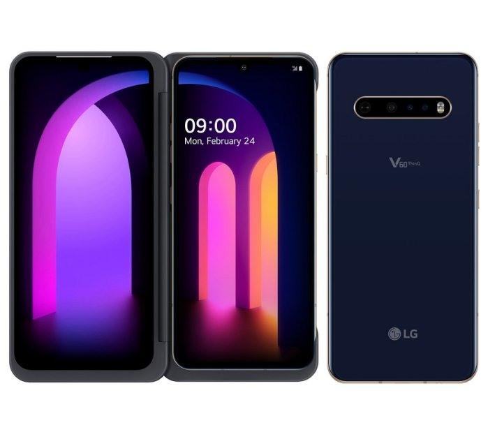 全新未拆 樂金 LG V60 ThinQ 256G 6.8吋 支援5G 雙螢幕 藍色 台灣公司貨 保固一年 高雄可面交