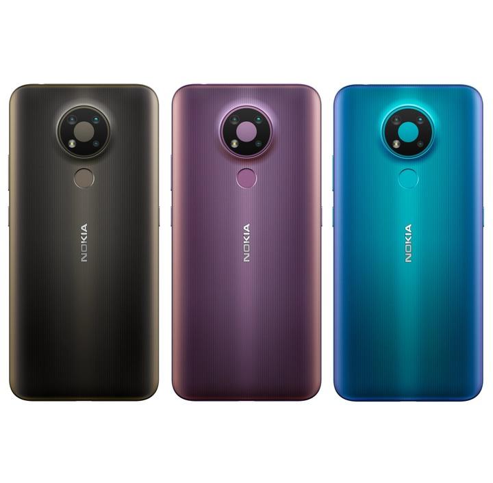 全新未拆 Nokia 3.4 64G 6.39吋 雙卡 超廣角鏡頭 黑色 紫色 藍色 台灣公司貨 保固一年 高雄可面交