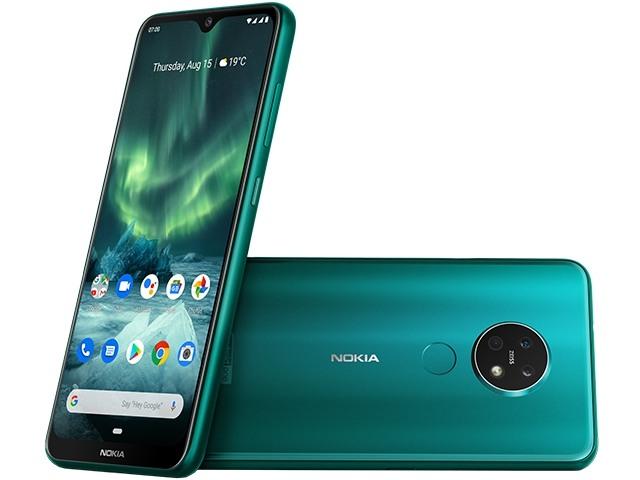 新色上市 全新未拆 NOKIA 7.2 翡翠綠 6.3吋 128G 蔡司認證三鏡頭 雙卡 台灣公司貨保固一年 高雄可面交