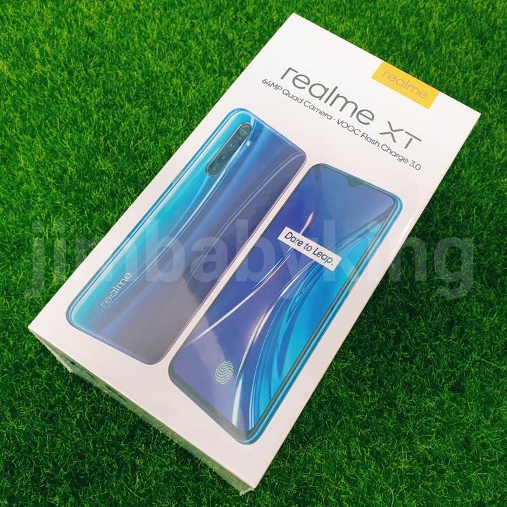 全新未拆 Realme XT 星圖藍 銀翼白 6.4吋 128G 四鏡頭 6400萬畫素 台灣公司貨保固1年 高雄可面交
