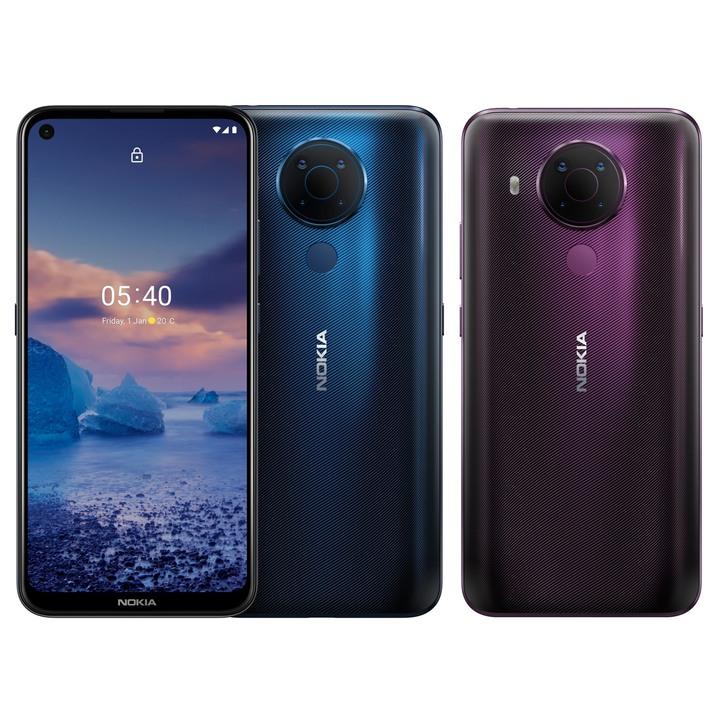 全新未拆 Nokia 5.4 6G/64G 6.39吋 雙卡 四鏡頭 藍色 紫色 台灣公司貨 保固一年 高雄可面交