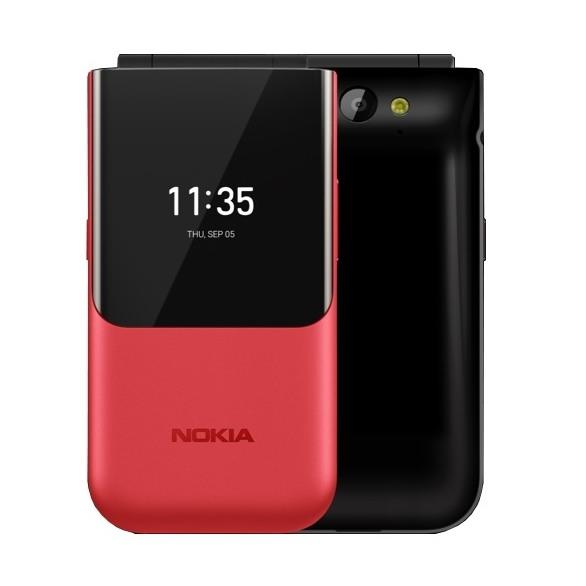 全新未拆 NOKIA 2720 Flip 紅色 黑色 2.8吋 4G 翻蓋式 雙螢幕手機 台灣公司貨保固ㄧ年 高雄可面交