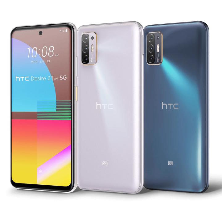 全新未拆 HTC Desire 21 Pro 5G 6.7吋 128G 紫色 藍色 台灣公司貨 保固一年 高雄可面交