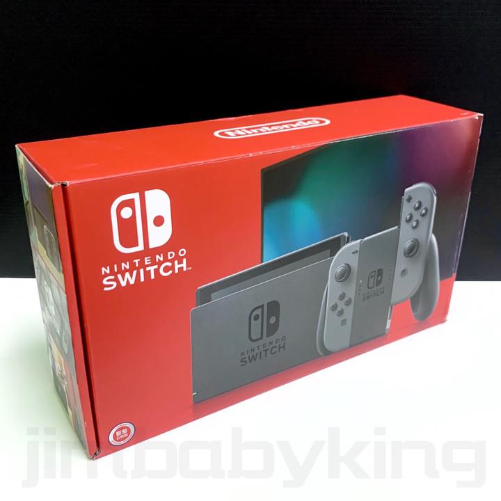 現貨 全新 台灣公司貨 Nintendo Switch 電力加強版 灰色主機 任天堂 NS 遊戲 原廠保固 高雄可面交