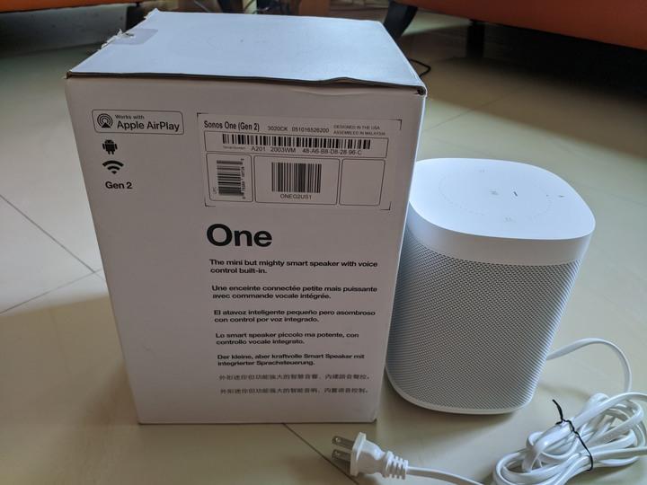 Sonos one Gen 2 (非Gen 1, play, SL非Homepod的更佳選擇
