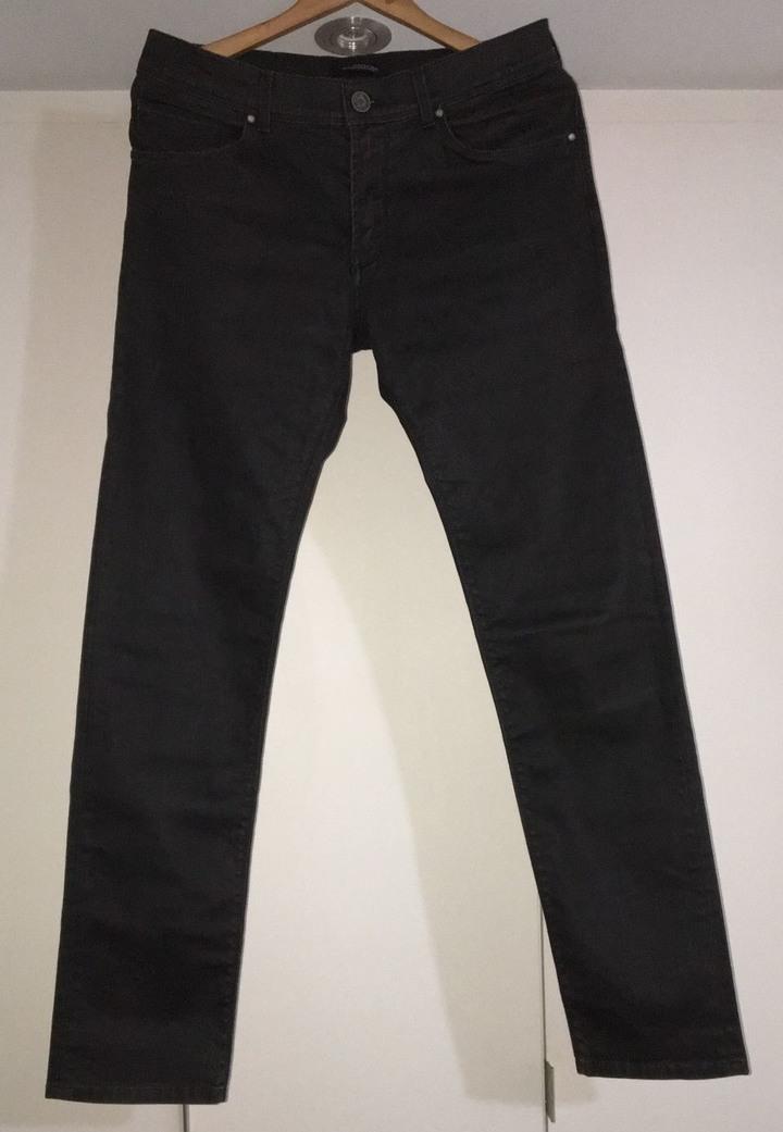 Used ZARA MAN BLACK TAG usa32 黑色中低腰休閒長褲not NUDIE,LEVIS