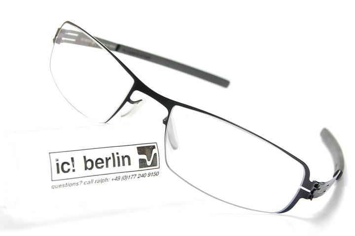 ic Berlin Mirjam E. gun mental 品項良好薄鋼框