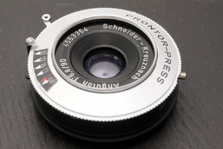 Schneider Kreuznach 90 mm f 6.8 Angulon 4X5 8X10