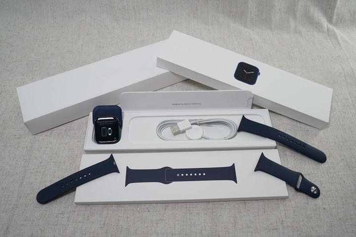 APPLE Watch S6 44mm 鋁 GPS版 藍 A2292 運動型錶帶 保至20211223