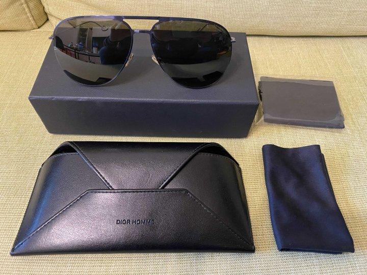 DIOR 0205 藍色金屬飛行太陽眼鏡極致纖薄