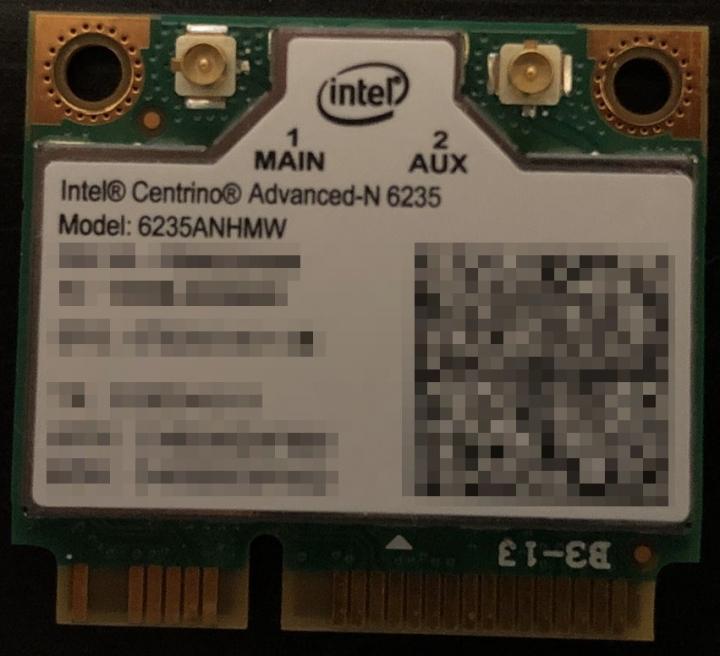 Intel® Centrino® Advanced-N 6235,雙頻(PCIe Half Mini Card)