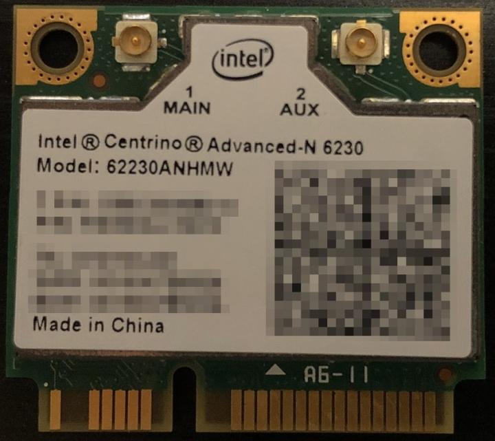 Intel® Centrino® Advanced-N 6230,雙頻(PCIe Half MiniCard)
