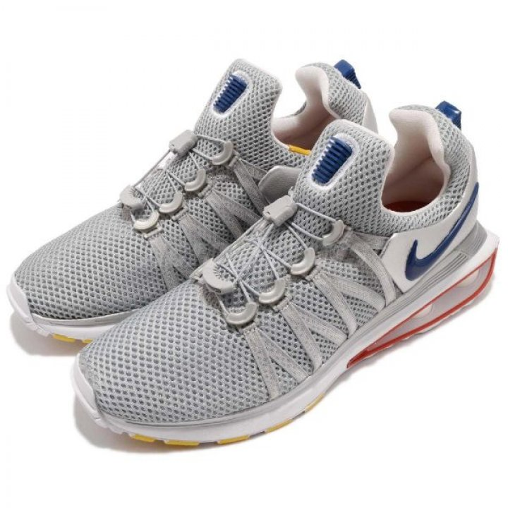 狀況良好 正品 Nike Shox Gravity 銀 紅 彈簧鞋 慢跑鞋 無鞋帶 男鞋 原價 4900