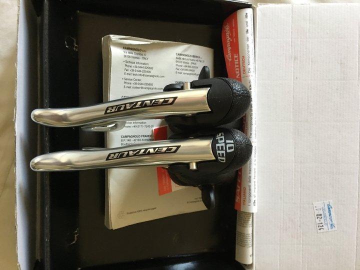 全新 絕版 2006 Campagnolo Centaur 10速 煞變把 + 二手 短腿後變/12-25飛輪