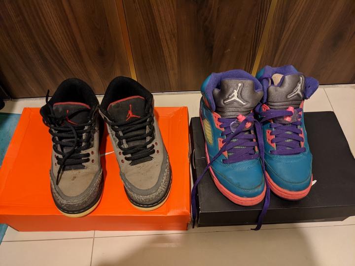 Nike Jordan 女鞋  size: 4.5Y 兩雙 1000元