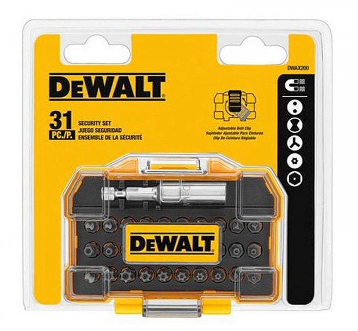 全新 DEWALT得偉 DWAX200 特殊螺絲批頭組- 31 Piece