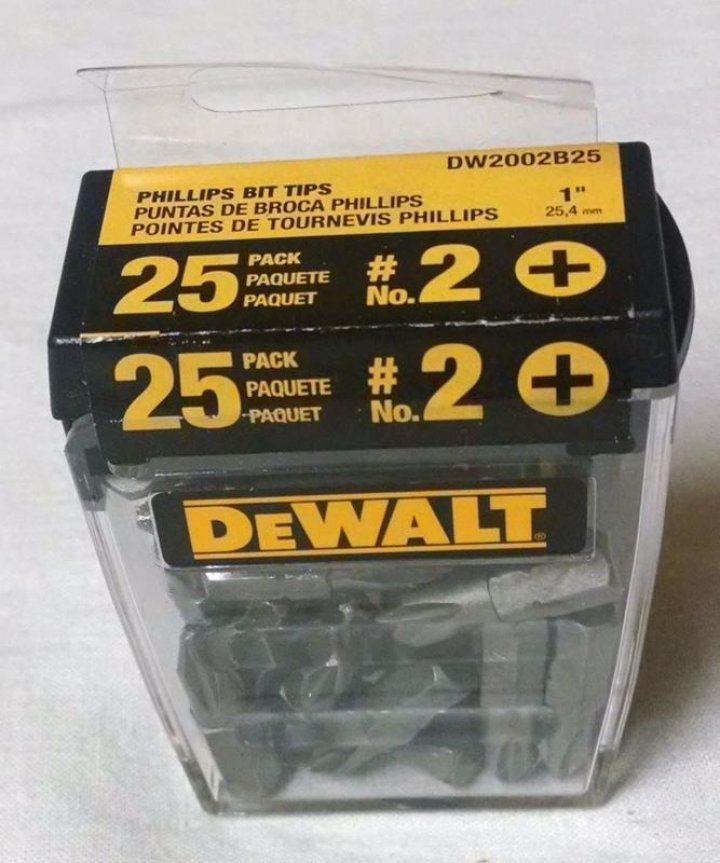全新 DEWALT得偉 DW2002B25 螺絲起子#2批頭組 - 鎖浪板超好用 一盒25顆550元