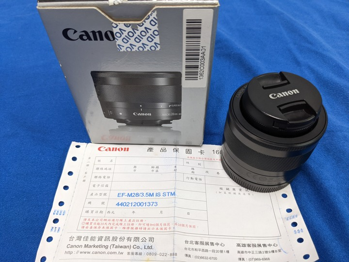 CANON 微距鏡 EFM 28mm f/3.5 Macro IS STM