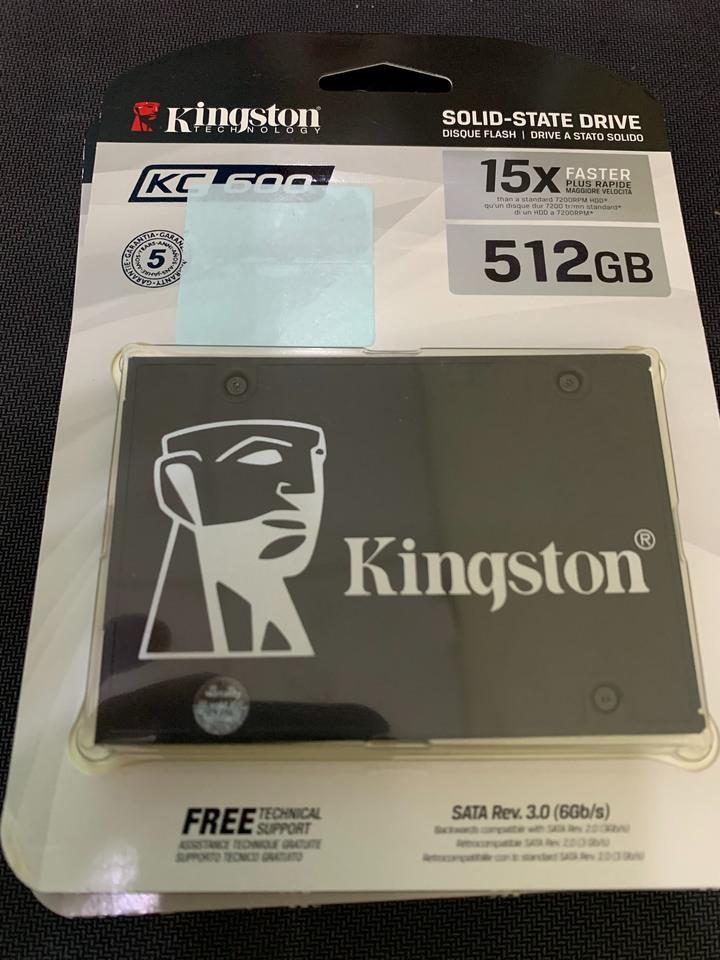 (立即出貨)全新未拆 Kingston 金士頓 KC600 512G SSD 2.5吋固態硬碟