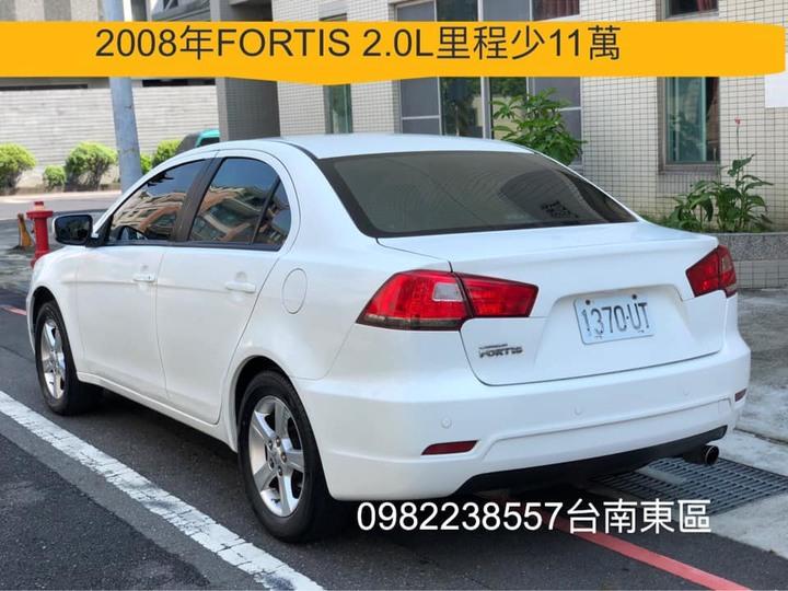 售2008年LANCER FORTIS 菱帥佛提斯 2.0L ALTIS CIVIC FOCUS TIIDA